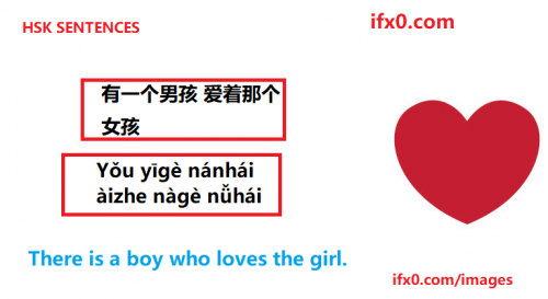Thereisaboy-wholoves-girl-in-Chinese-Basic-HSK-sentences.png
