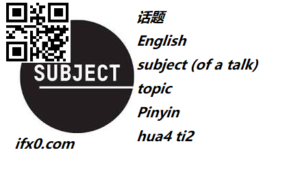 hua4-ti2-subject-in-Chinese-HSK-5-words.png